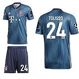 adidas FCB FC Bayern München 3rd Set Champions League 2018 2019 Herren Tolisso 24 CL Logos Gr S
