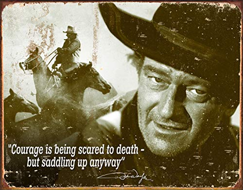 "Desperate Enterprises John Wayne - Courage Tin Sign, 16"" W x 12.5"" H"