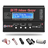 LiPo Battery Charger 1S-6S Balance Discharger Digital Battery Pack Charger for NiMH/NiCD/Li-Fe/LiHV/Li-ion Packs with...
