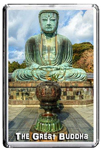 GIFTSCITY 042 THE GREAT BUDDHA OF KAMAKURA IN JAPAN JUMBO PHOTO REFRIGERATOR MAGNET FRIDGE MAGNET JAPAN LANDMARKS, JAPAN ATTRACTIONS