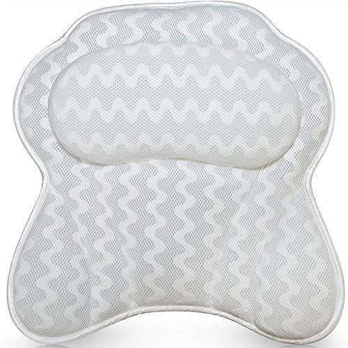 Bath Pillow Comfortabele nekkussen voor bad Wave Stripes Pillow Bad Accessoires Massage Kussen Bad Pillow Huis Zachte anti-slip bad Kussen met zuignap