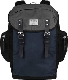 Sandqvist Men's Sandqvist Lars-goran In Cordura Black Blue And Grey Backpack Multicolour