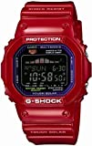 Casio G-Shock Tough Solar Red Plastic Resin Case and Bracelet Black Tone Digital Dial Tide Graph Moon Data