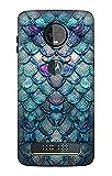 Mermaid Fish Scale Etui Coque Housse pour Motorola Moto Z3, Z3 Play
