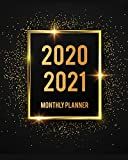 2020-2021 Monthly Planner: Black Cover 2 Year Monthly Planner Calendar Schedule Organizer January 2020 to December 2021 (24 Months) With Holidays and inspirational Quotes