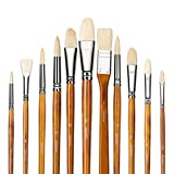 Best Oil Paint Brushes - 11pcs Professional 100% Natural Chungking Pure Hog Bristle Review