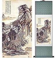 張大千風景画中国美術絵画ホームオフィス装飾中国絵画20150122