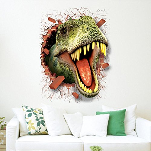 COOL 3d, hodod dinosaurio vinilo calcomanías Jurassic Park pared mural niños habitación decoración, Multicolor