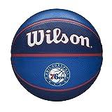 Wilson Pelota de Baloncesto NBA Team Tribute, Philadelphia 76ERS, Exterior, Caucho, Tamaño: 7