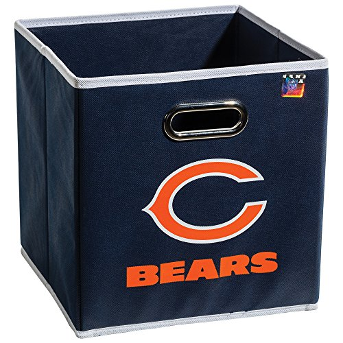 Franklin Sports NFL Chicago Bears Collapsible Storage Bin - NFL Folding Cube Storage Container - Fits Bin Organizers - Fabric NFL Team Storage Cubes