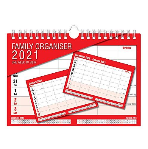 2021 Calendar Family Organiser -...