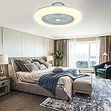 Ventilador de techo con iluminación LED, 36 W, ventilador de techo, regulable, con mando a...