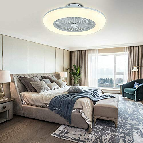 Deckenventilator mit LED Beleuchtung, 36W LED Licht Fan Deckenventilator, Dimmbar mit Fernbedienung, 3 Gang Wind, Moderne Deckenventilatoren mit LED Lampe