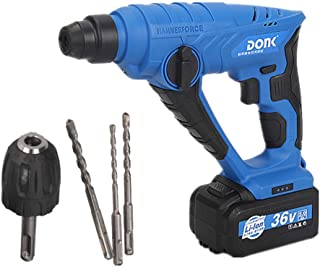 36V Rechargeable Lithium Battery Electric Hammer Drill,Wall Impact Drill Concrete 4-26Mm Screwdriver Hammer Power Tools