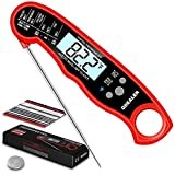 "GDEALER DT15 Waterproof Digital Instant Read Meat Thermometer Ultra-Fast Cooking Food Thermometer with 4.6"" Folding Probe Calibration Function for Kitchen Milk Candy, BBQ Grill, Smokers"