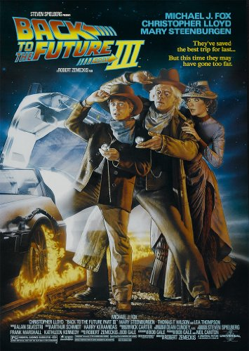 Back to the Future 3 A4 Poster Print