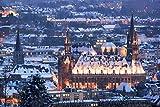 Aachen Skyline Winter Design XXL Wandbild Kunstdruck Foto