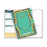 Dated Middle or High School Student Planner 2020-2021 Academic School Year, 5.5x8.5 inch Block Style Datebook with Campus Retro Cover