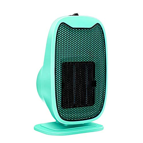 WZCXYX Mini Calentador Portátil De Escritorio Calentador Eléctrico Ventilador Ventilador Máquina Calentador De Invierno Radiador De Estufa De Calefacción Giratoria para Coche Doméstico(Color:Verde)