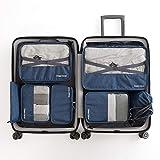 JWIL Borsa per Il deposito Bagagli Borsa da Viaggio di Bagagli Biancheria Intima di Finitura Borsa da Viaggio Impermeabile (Set di 7) Rendere i cubetti di imballaggio più Leggeri