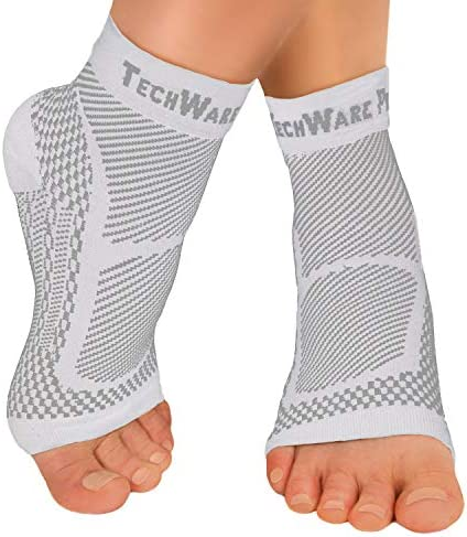 TechWare Pro Ankle Brace Compression Sleeve Relieves Achilles Tendonitis Joint Pain Plantar product image