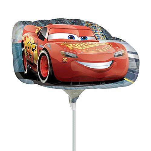 Disney Cars 3 Mini vormige folie ballonnen op stokken x 3