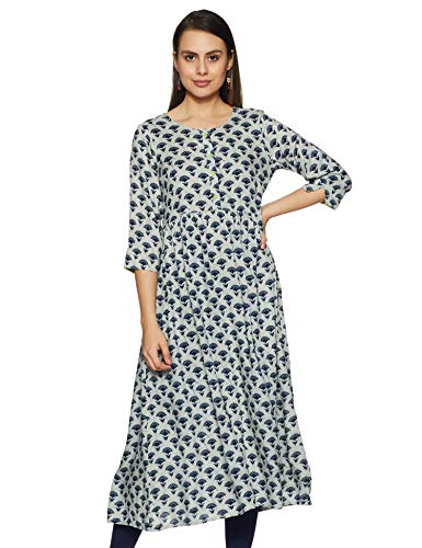Indigo Women's cotton a-line Kurta (AW19/IND-1277 Medium)