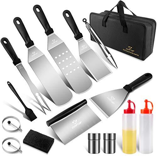 COFOF Juego de utensilios para barbacoa, set profesional de herramientas para barbacoa,...