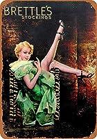 ブレットルのストッキングティンサイン装飾ヴィンテージ壁金属プラークカフェバー映画ギフト結婚式誕生日警告のためのレトロな鉄の絵画