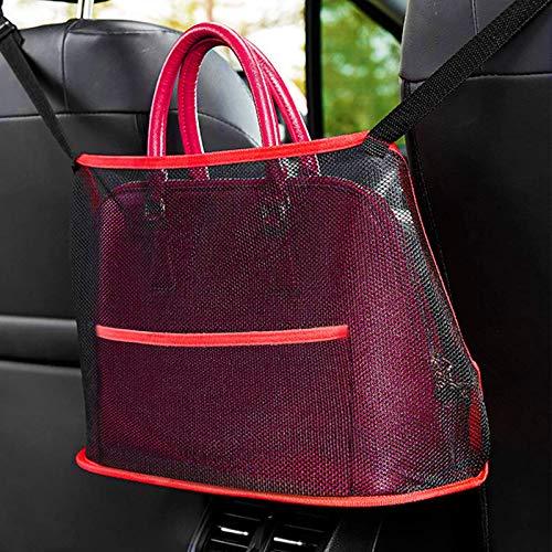 BEIJITA Car Net Pocket Handbag Holder,Car Mesh Organizer Between Seats,for Tissue Purse Holder & Pocket,Handbag Holder Front Seat Storage seat Back net Bag,Pets Kids Barrier Disturb Stopper