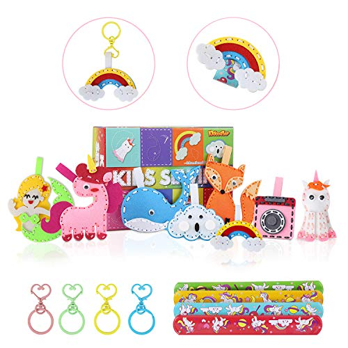 2021 Sewing Kit for Kids with 8 Fun Projects, My First Sewing Kit, Preschool Sewing Kit for Kids, 2021 New Gift for Kids/Beginner