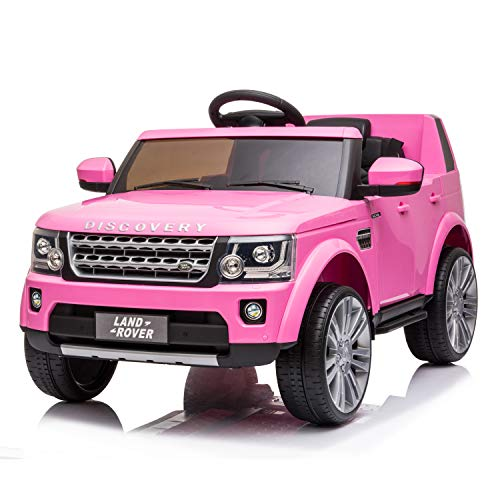 FORESEE Ride On Car with Remote Control 12V Electric Cars for Kids Motorized Vehicles, Rechargeable Motor Electric Vehicle, Spring Suspension, USB,MP3 Player,Led Headlight. (Pink)