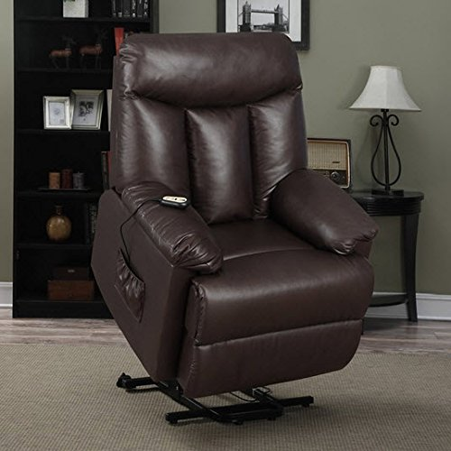 Best Home ProLounger LYA Modern Brown Renu Leather Power Recline and Lift