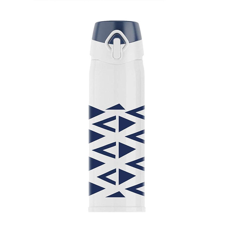チキンフィールド剥離魔法瓶 ふた水カップとバウンスマグ304ステンレス鋼 飛散防止 (色 : White - triangle)