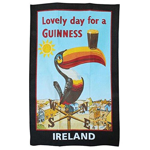 Serviette en coton 100 % avec toucan emblématique produit officiel Guinness