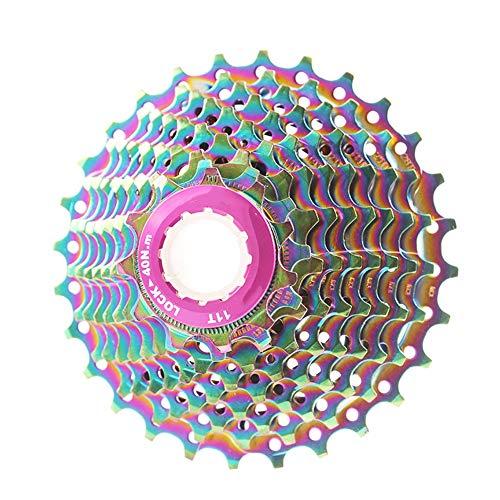 WY Piezas de Bicicleta Bicicleta de Carretera Cassette de 10 velocidades del Volante 11-28T Cadena for MTB Bicicleta Plegable Bicicleta Cassette Volante Piñón (Color : Purple)