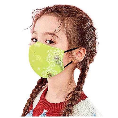 BOMING 1 Stück Kinder Mundschutz Schmetterling Druck Verstellbarer Hängendes Ohr StaubschutZ Atmungsaktive Baumwolle Waschbar Halstuch