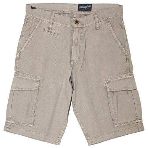 Wrangler, Cargo Shorts, Herren Kurze Jeans Weiche Gabardine Camel Beige W 32 [19941]