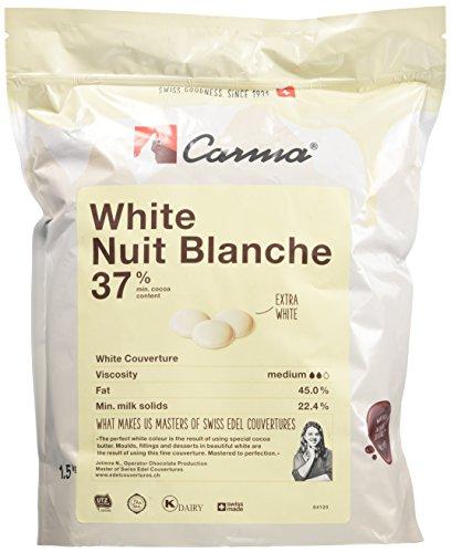 Chocolate blanco suizo en gotas CARMA 37% bolsa de 1,5kg
