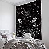 Phosphor Nordic ins Wandteppich zum Aufhängen, Mond, Stern und Sonne, Wandteppich, Heimdekoration,...