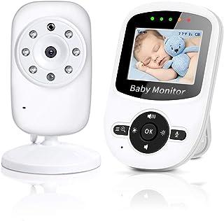 TOPERSUN Vigilabebés con Cámara Inalámbrico Monitor de Bebé Inteligente Pantalla LCD Visión Nocturna Comunicación Bidireccional