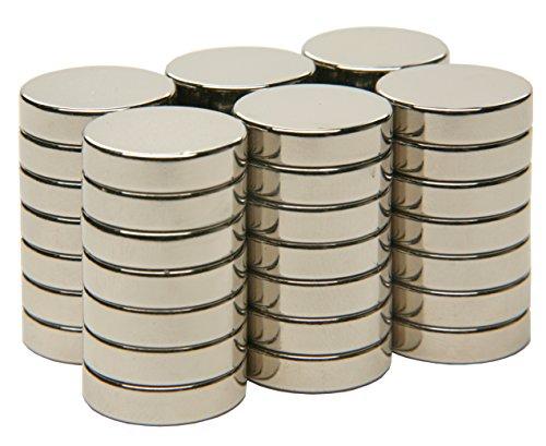 SBS® Neodym Magente | Ø 10 x 2 mm | 20 Stück | Supermagnete mit extremer Haftkraft | Scheibenmagnet | Magnetscheibe