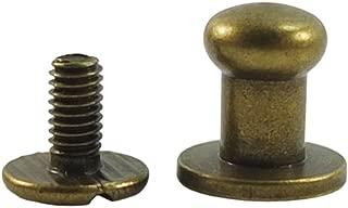 Bluemoona 50 Sets - Head Button 6mm 1/4