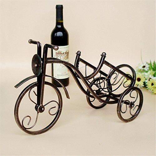 Vigvog vintage bronze-colored triciclo porta bottiglia di vino casa cucina soggiorno sala da pranzo Decor 41cm *15cm *25cm, Bronzo, C, 41*15*25cm