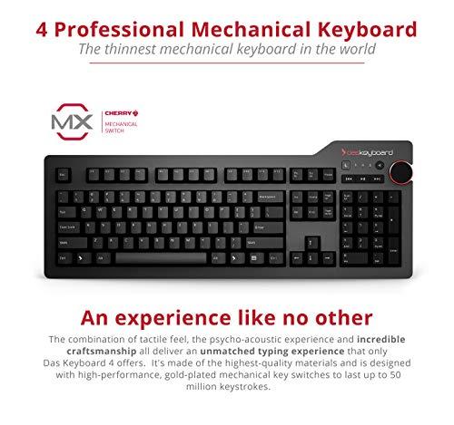 Das Keyboard DASK4MKPROCLI - Teclado (USB, QWERTY, Alámbrico, USB, Negro, PC/Server)