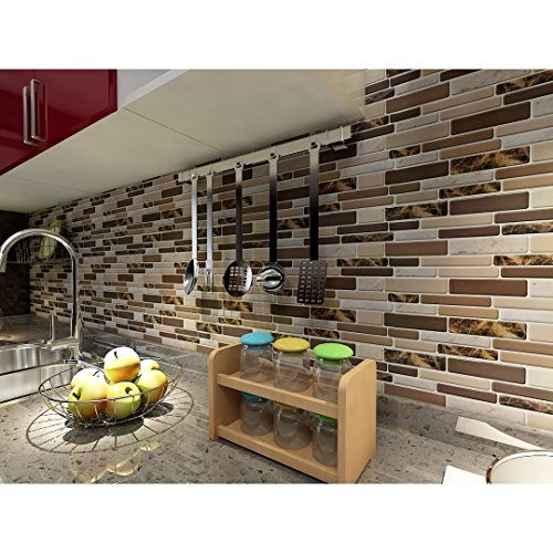 Art3d Kitchen Backsplash Tiles Peel and Stick Wall Stickers, 12