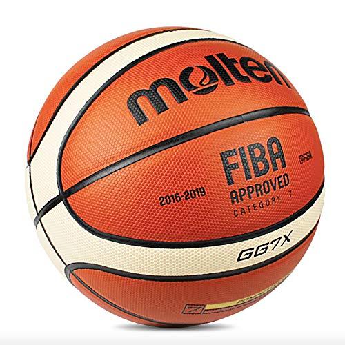 Sports Factory GG7X Basketball für Herren, offizielle Größe 7, inkl. Ballnadel und Netznetz
