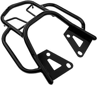 D DOLITY Motorcycle Sissy Bar Luggage Rack Tail Box Saddlebag Shelf for Honda Grom MSX125 MSX 125 (Black/Red) - Black