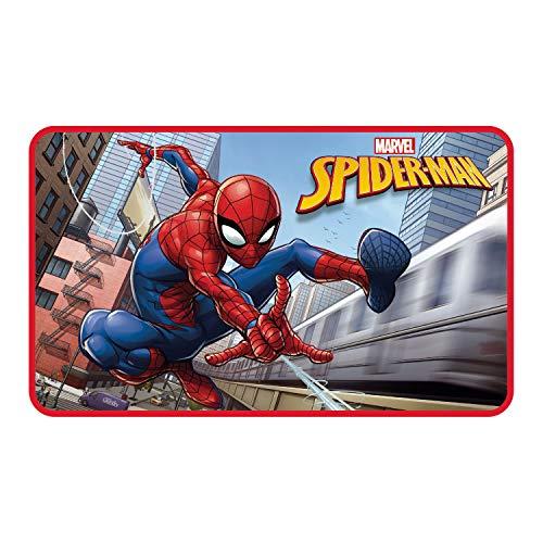 ARDITEX SM11591 Spiderman Tapis pour Enfant, Polyester, Multicolore, 45 x 1 x 75 cm