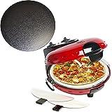 Bestron Pizzaofen mit getrennt zuschaltbarer Ober- und Unterhitze und glasiertem Stein